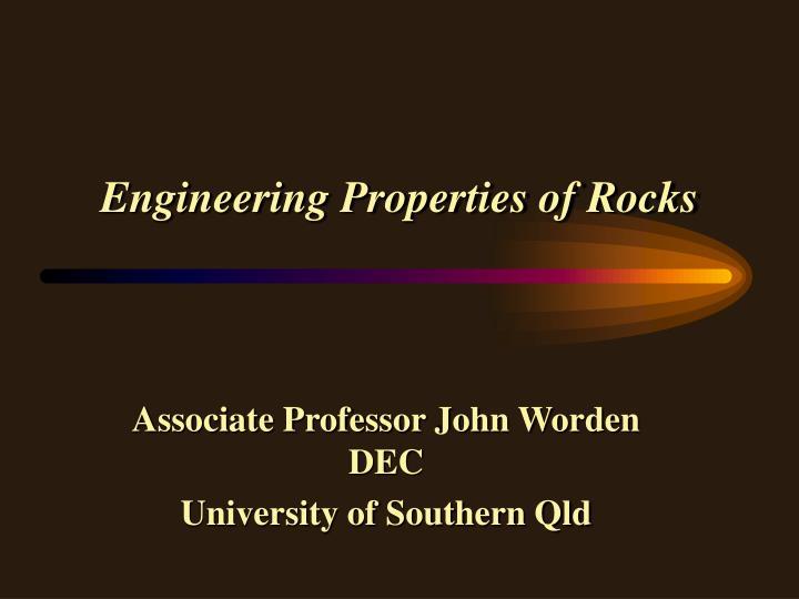 engineering properties of rocks n.