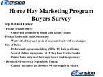 horse hay marketing program buyers survey