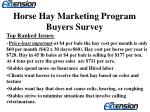 horse hay marketing program buyers survey4
