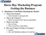 horse hay marketing program getting the business10
