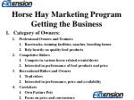 horse hay marketing program getting the business9
