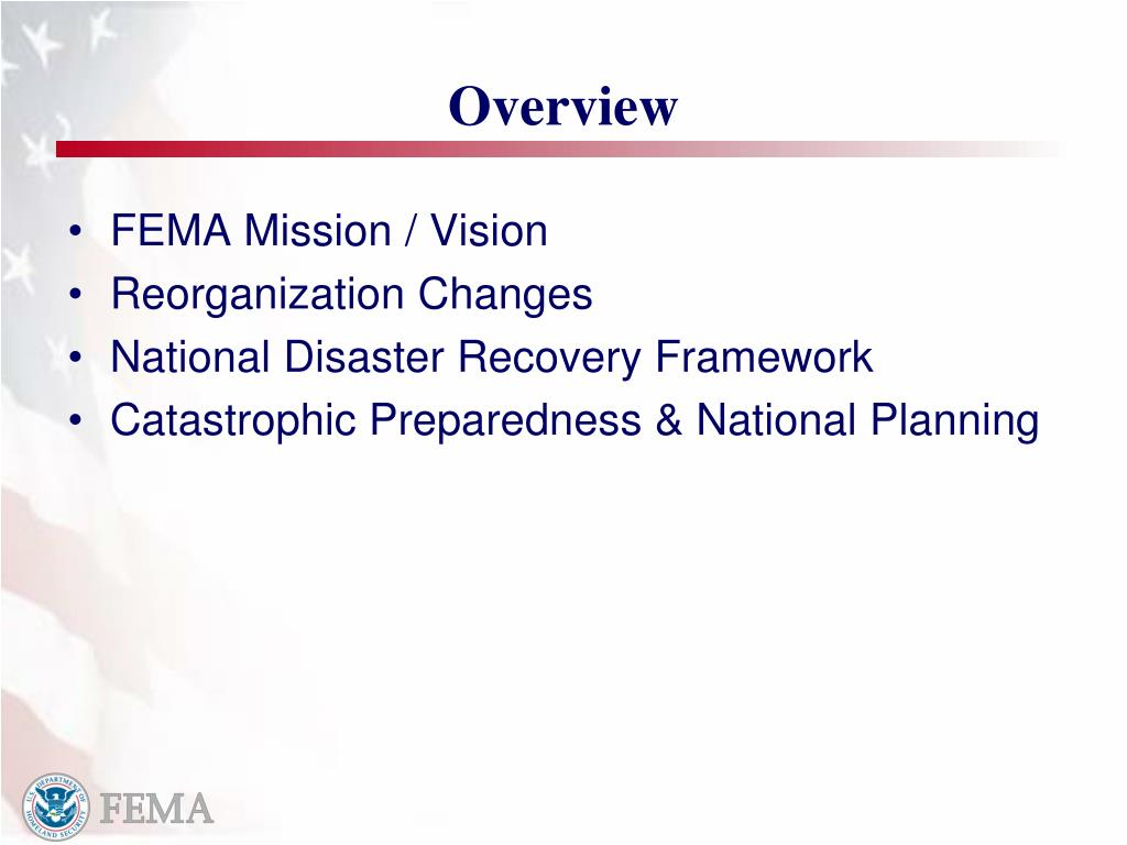 overview fema This manual verify the following information with fema overview the purpose  of the fema disaster housing assistance1 is to provide assistance to enable.