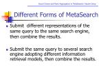 different forms of metasearch