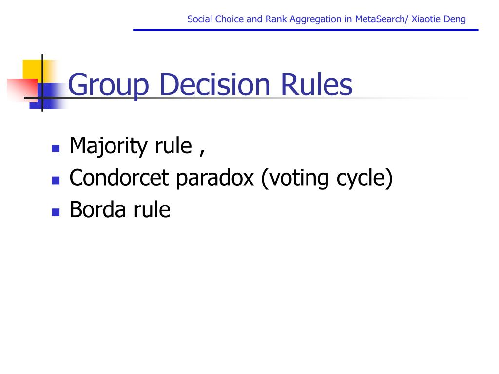 Group Decision Rules
