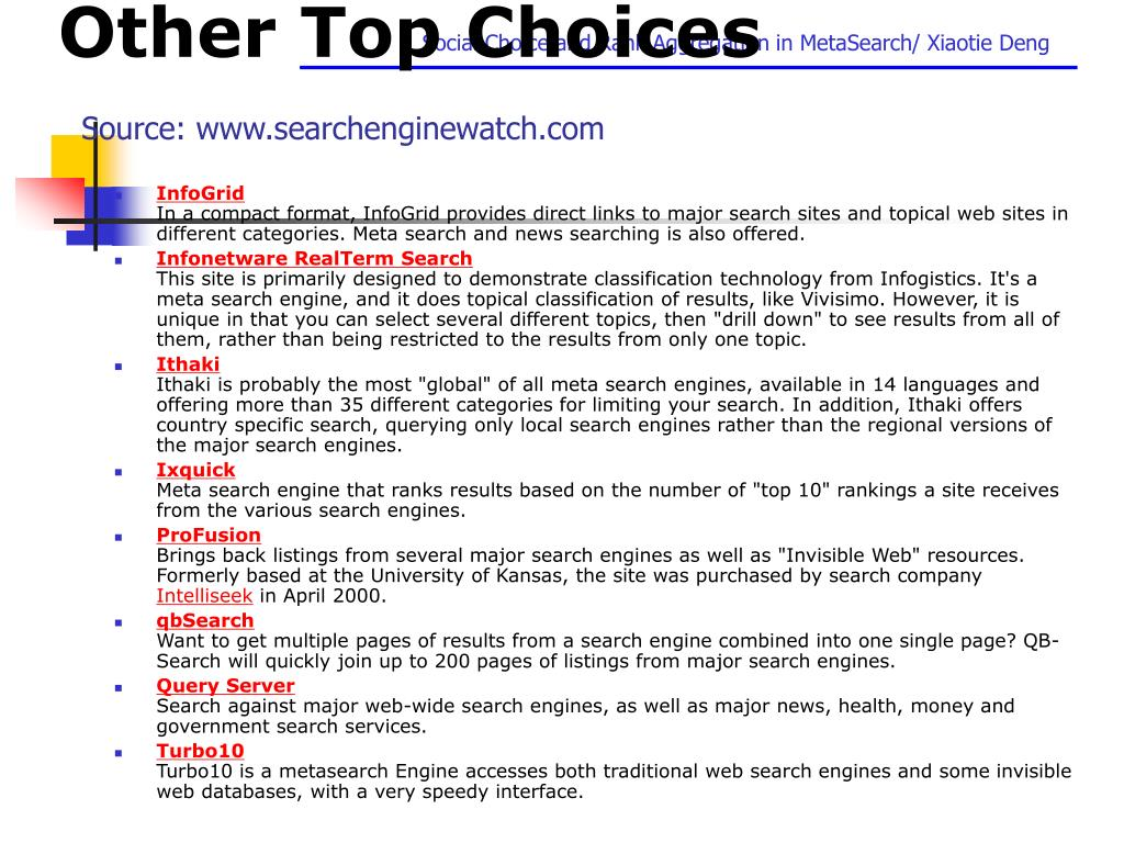 Other Top Choices