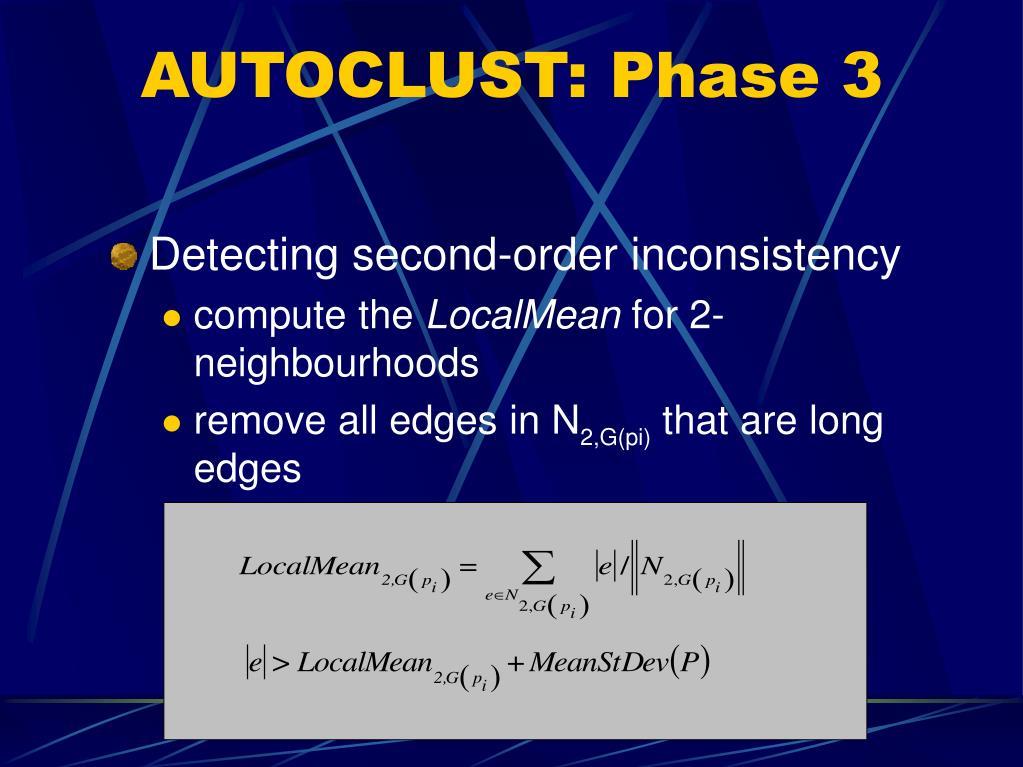 AUTOCLUST: Phase 3