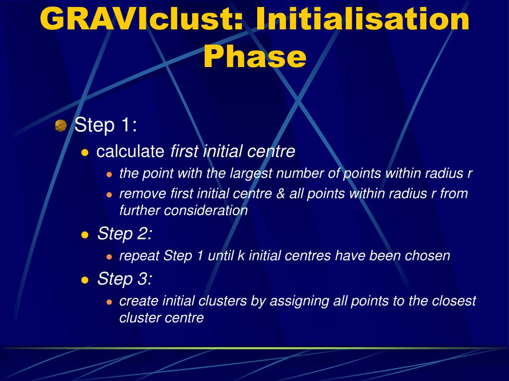 GRAVIclust: Initialisation Phase