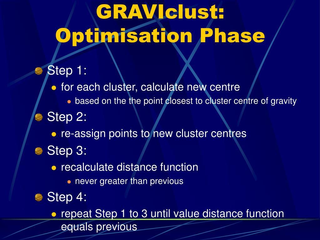 GRAVIclust: Optimisation Phase