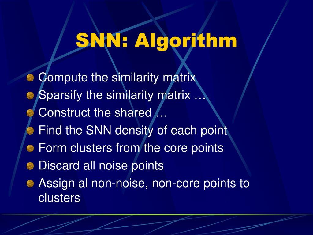 SNN: Algorithm