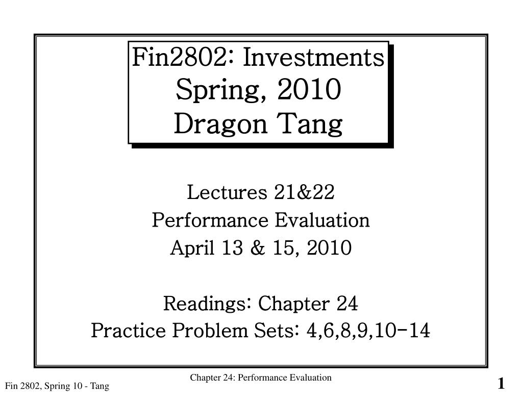 fin2802 investments spring 2010 dragon tang