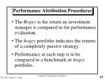 performance attribution procedures23