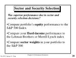 sector and security selection