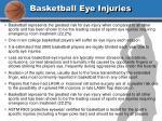 basketball eye injuries