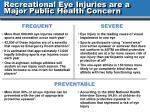 recreational eye injuries are a major public health concern