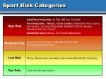 sport risk categories