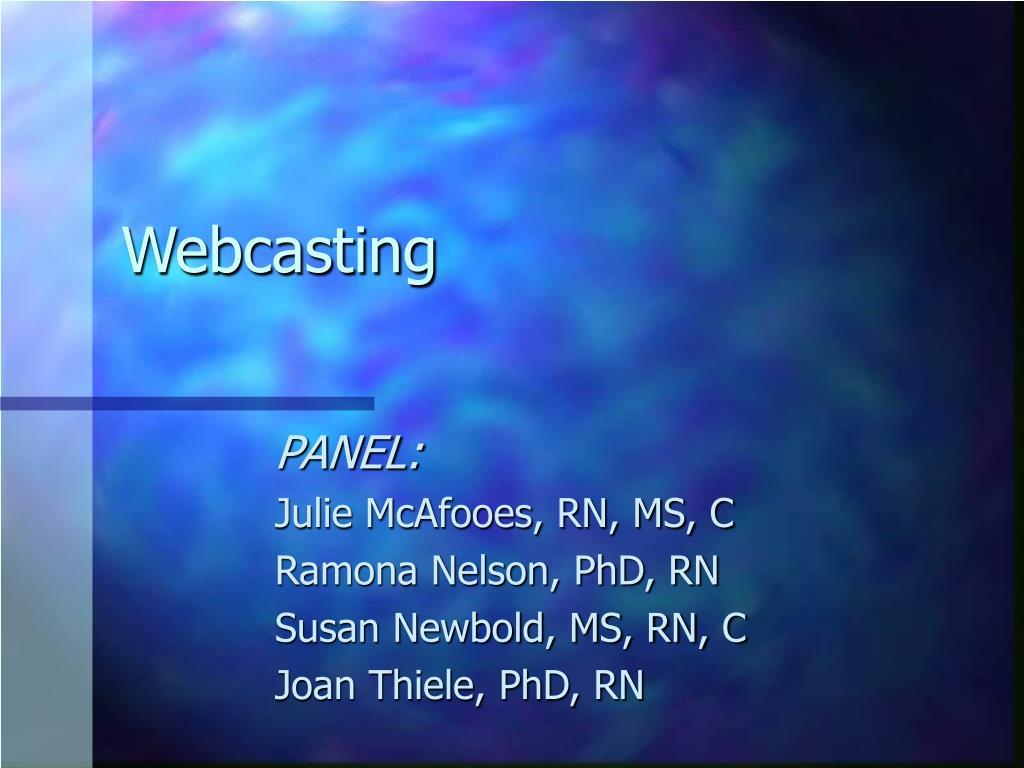 webcasting l.