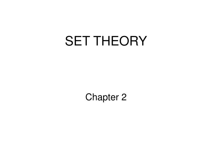 set theory n.
