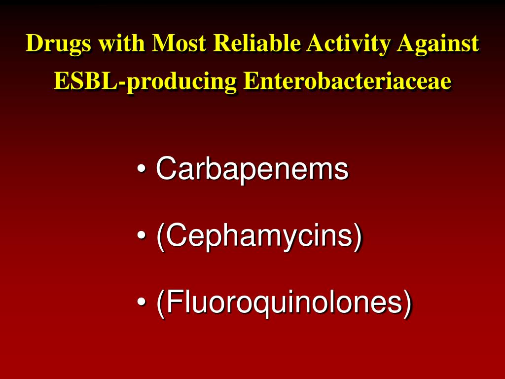 Drugs with Most Reliable Activity Against
