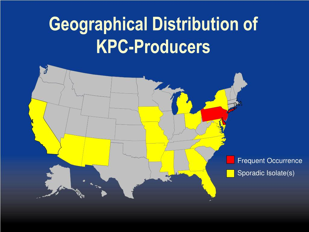 Geographical Distribution of KPC-Producers