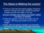 the steps to making the layers