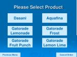 please select product11