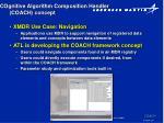 cognitive algorithm composition handler coach concept