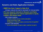 dynamic and static application analysis