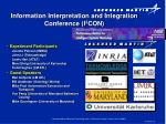 information interpretation and integration conference i 3 con