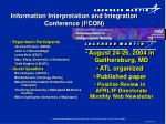 information interpretation and integration conference i 3 con32
