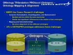 ontology translation protocol ontrapro ontology mapping alignment