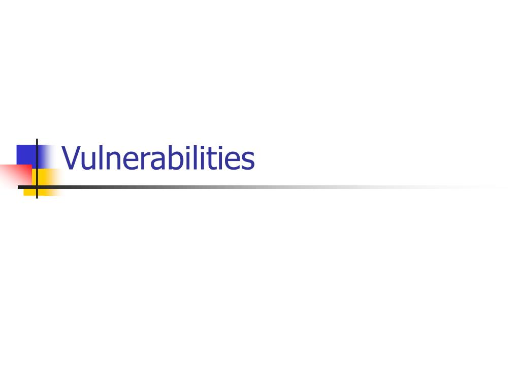 vulnerabilities l.