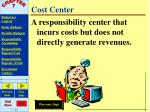 cost center
