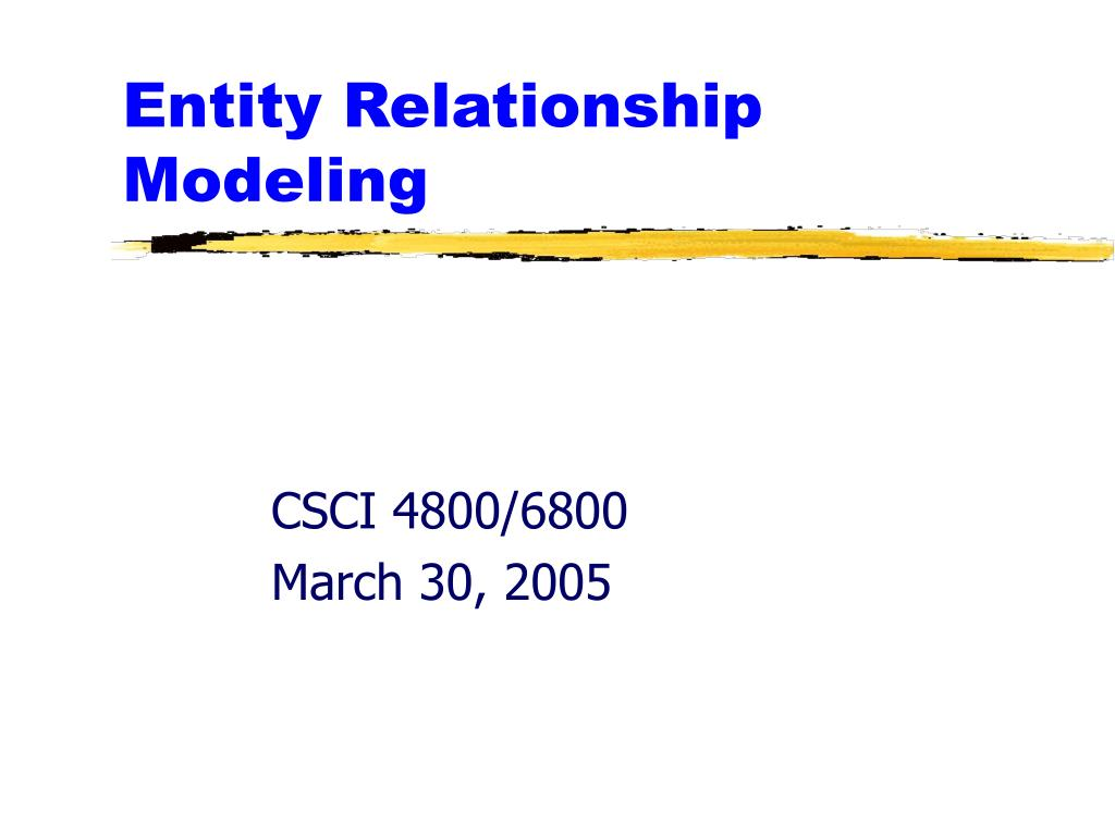 PPT - Entity Relationship Modeling PowerPoint Presentation ...