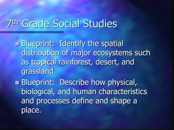 7 th grade social studies