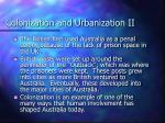 colonization and urbanization ii