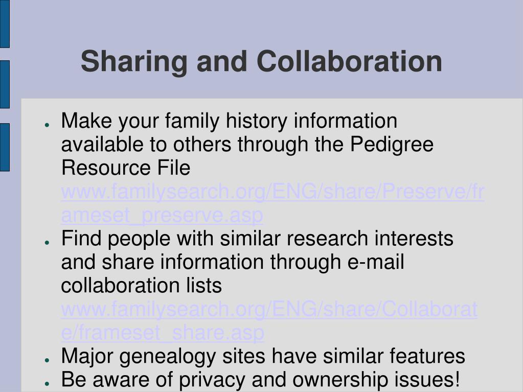 Sharing and Collaboration