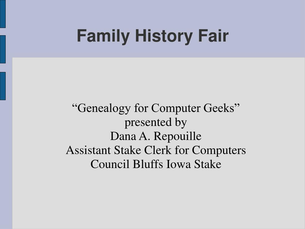 """Genealogy for Computer Geeks"""