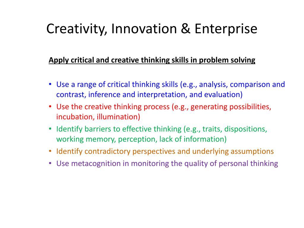 Creativity, Innovation & Enterprise