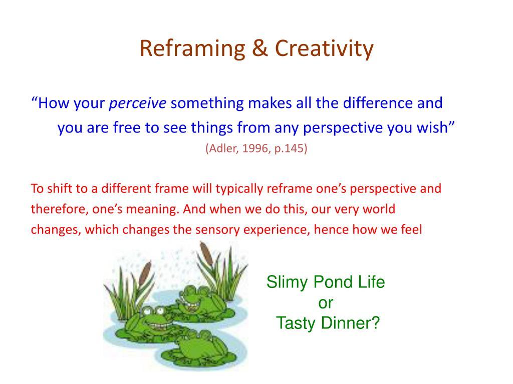 Reframing & Creativity