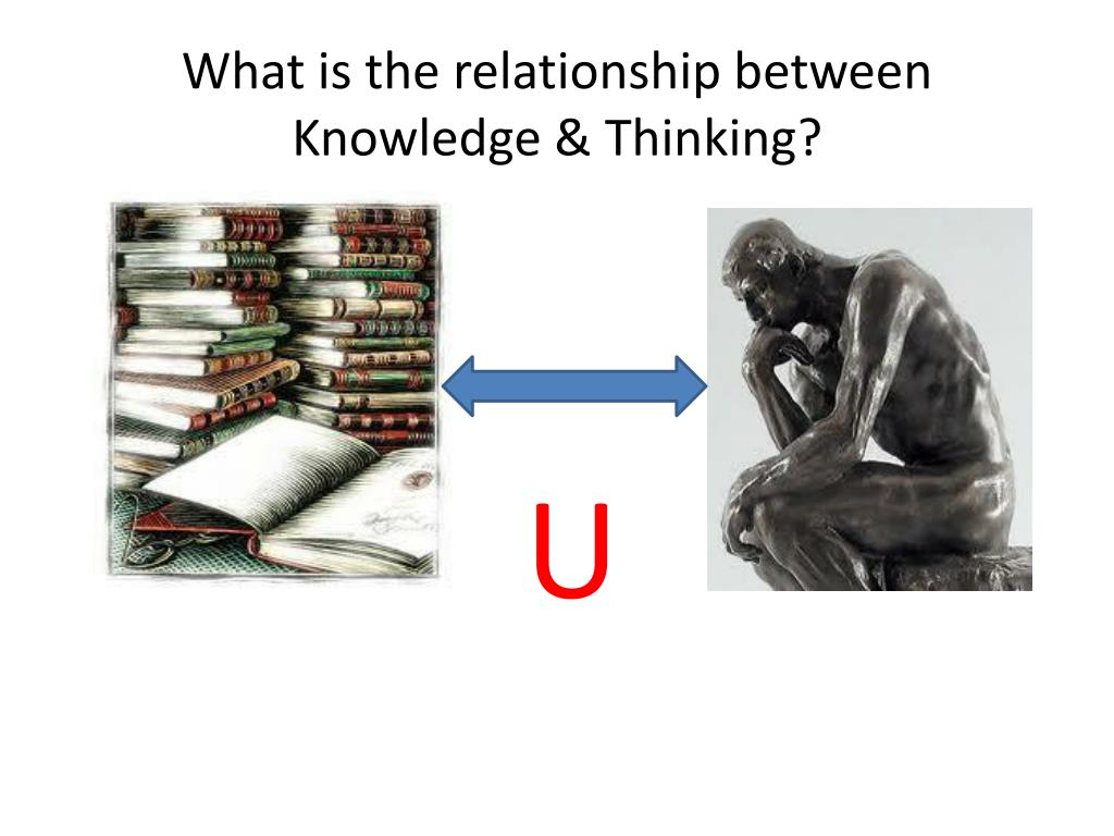What is the relationship between Knowledge & Thinking?