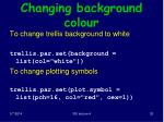 changing background colour
