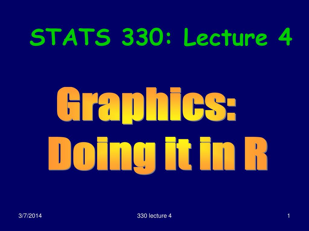 stats 330 lecture 4
