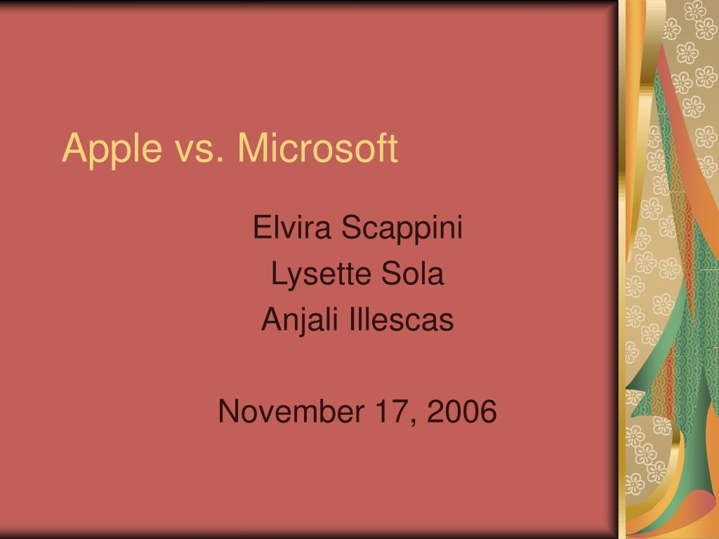 apple vs microsoft l.