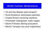arctic human dimensions