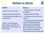 divisas vs bolsa