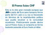el franco suizo chf