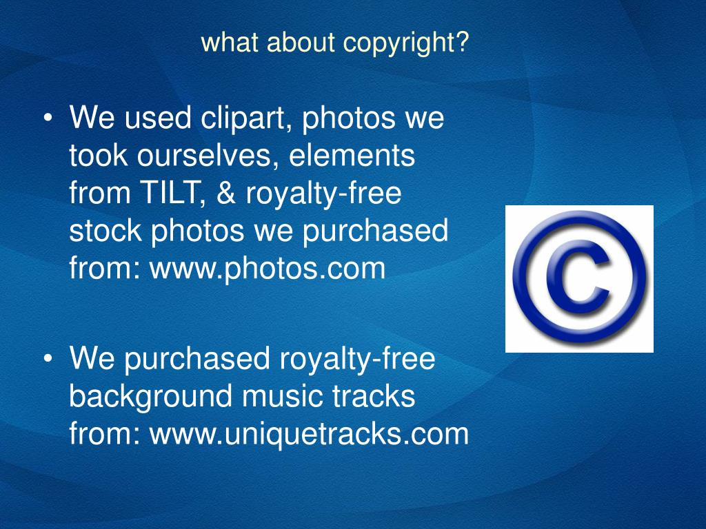 what about copyright?
