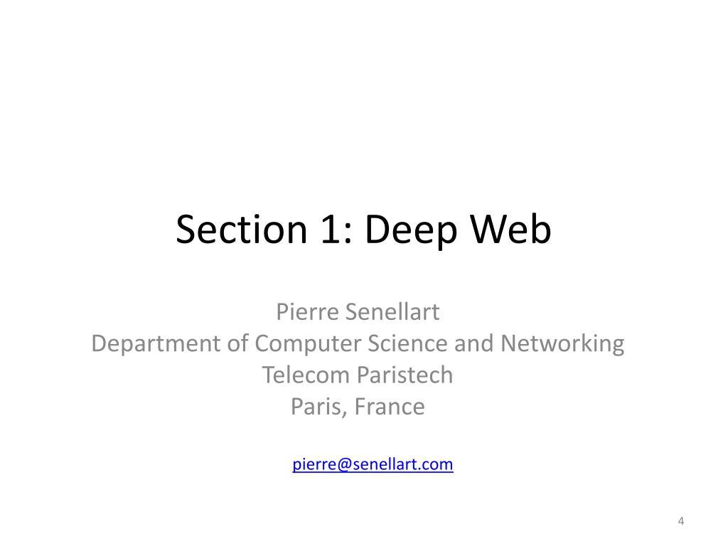 Section 1: Deep Web
