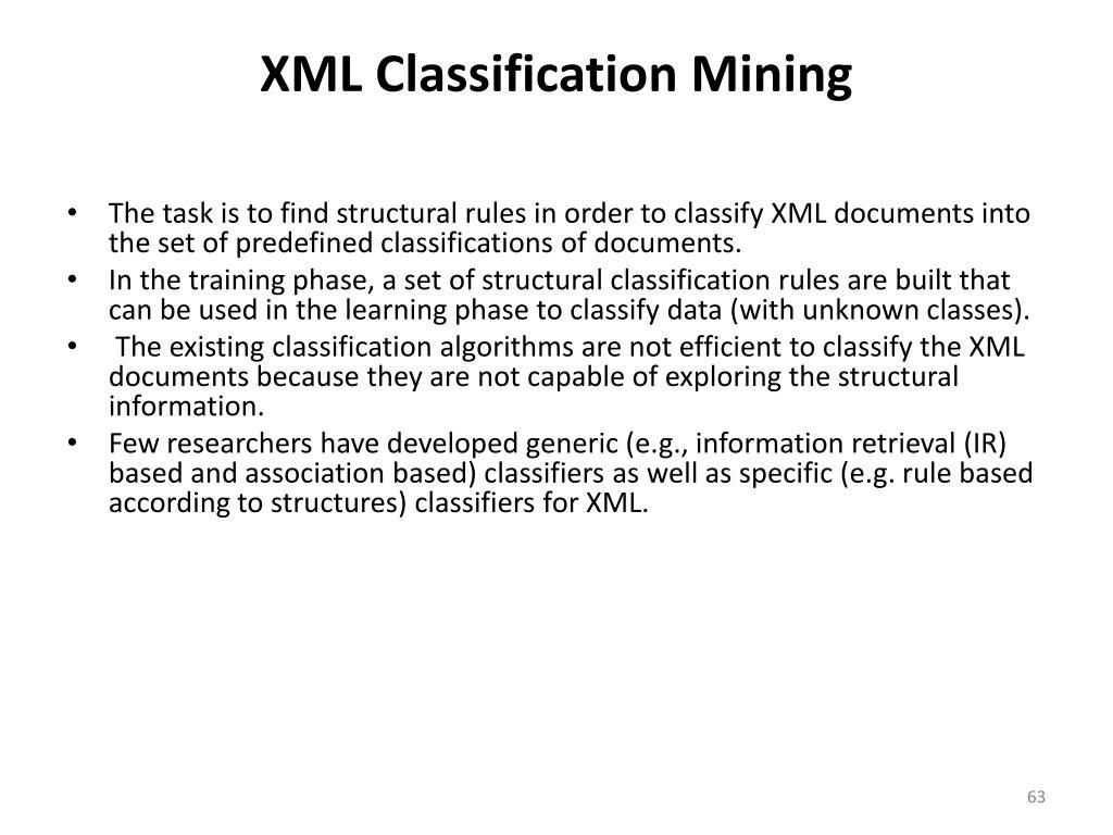 XML Classification Mining
