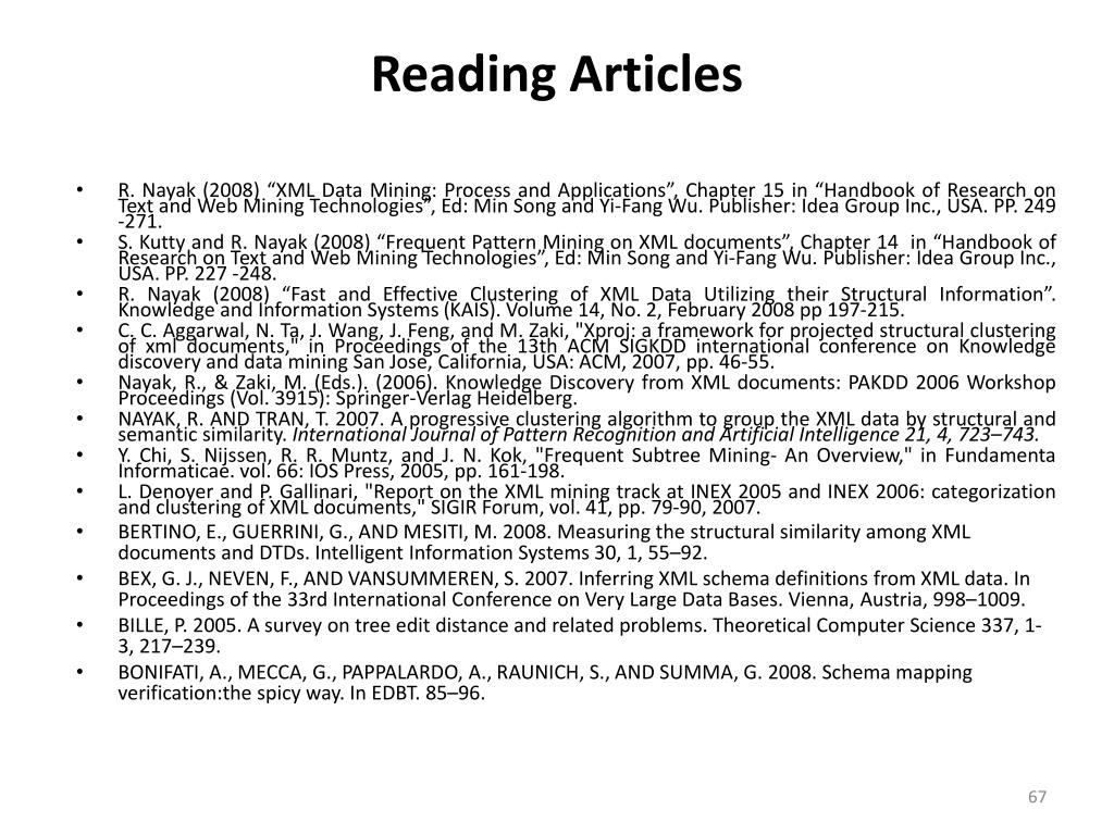 Reading Articles